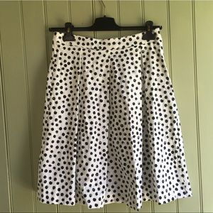 Who What Wear for Target Pleated Dot Midi Skirt
